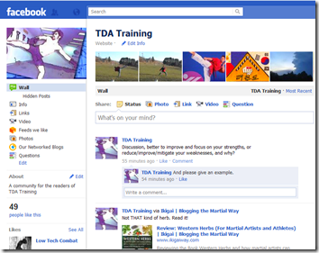 TDA Training on Facebook
