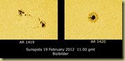 19 February 2012 Sunspots