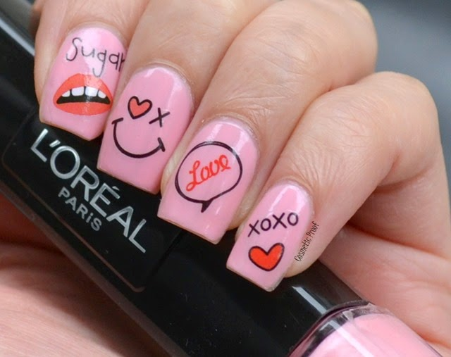 LOreal 2 Step Infallible Nail Polish in Irresistable Bonbon Review Swatch Nail Art (2)