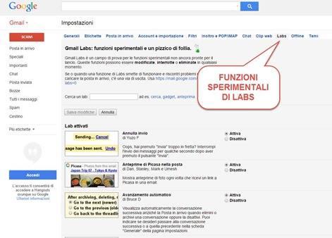 funzioni-sperimentali-labs-gmail