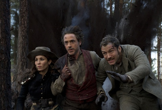 Noomi Rapace, Jude Law and Robert Downey Jr (Sherlock Homes: A Game of Shadows)