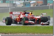 Alonso davanti a Webber nel gran premio della Malesia 2013