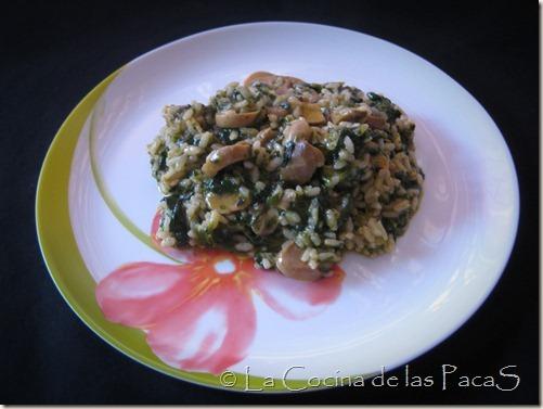 arroz con espinaca