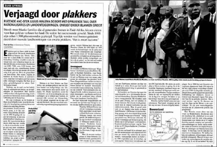 ANTIBOER VIOLENCE ELSEVIERS VERJAAGD DOOR PLAKKERS