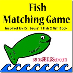 Fish Matching Game Logo obSEUSSed c