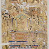 The Queen of Sheba Enthroned, late 19th–early 20th century Iran Inks, colors, and gold on paper