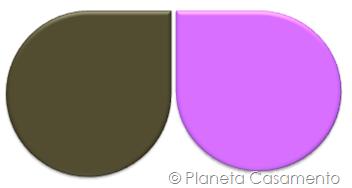 Paleta de Cores - Marrom e Rosa - Planeta Casamento