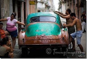 Repainting a classic car