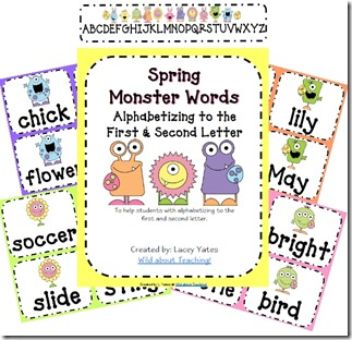 Spring Monster Words Thumb