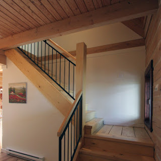 Stairs built of yellow cedar (Foto by Ted Grant)