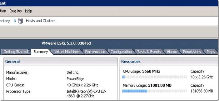 Resource shows CPU and Memory usage