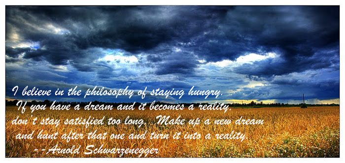 Make Up a New Dream & Stay Hungry In Life Quote