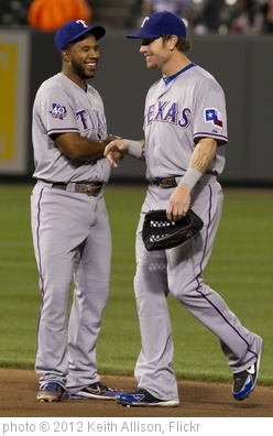 'Elvis Andrus, Josh Hamilton' photo (c) 2012, Keith Allison - license: http://creativecommons.org/licenses/by-sa/2.0/