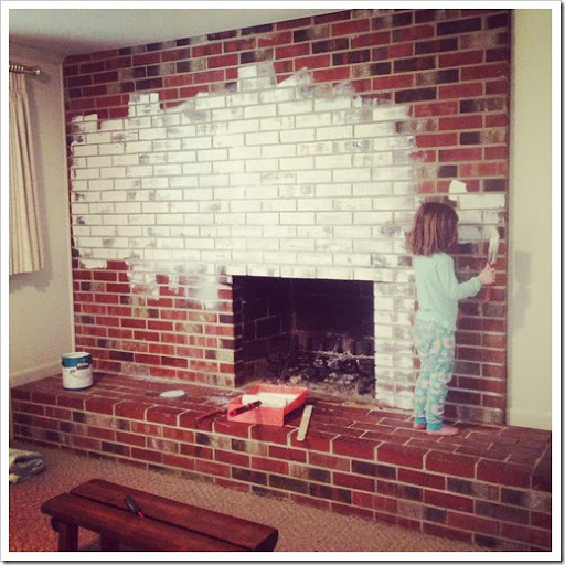 Caught in Grace: Painting a Brick Fireplace
