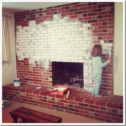 painted white brick fireplaceCaught in Grace Painting a Brick Fireplace