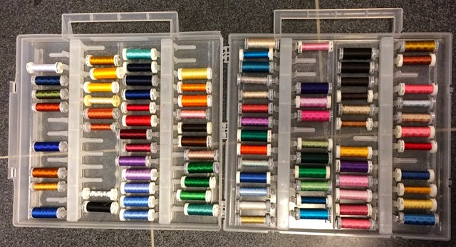 A few of my Gûtermann Sulky threads...... (I like to buy thread!)