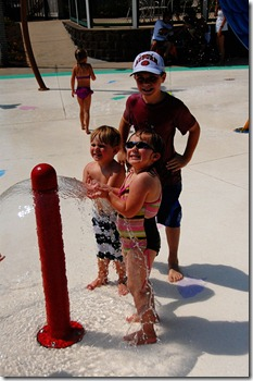 cousins at water park