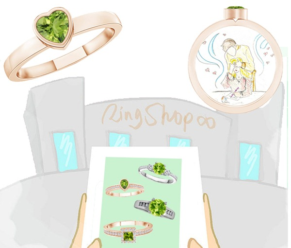 Beautiful Peridot Rings