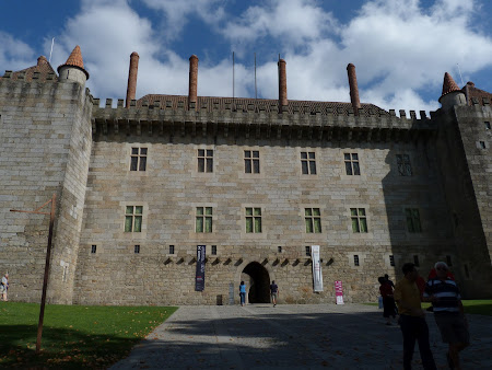 Castle of the dukes of Guimaraes, the first Portuguese kings