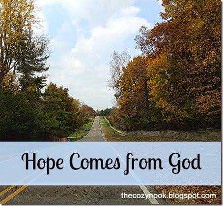 Hope Comes from God - The Cozy Nook