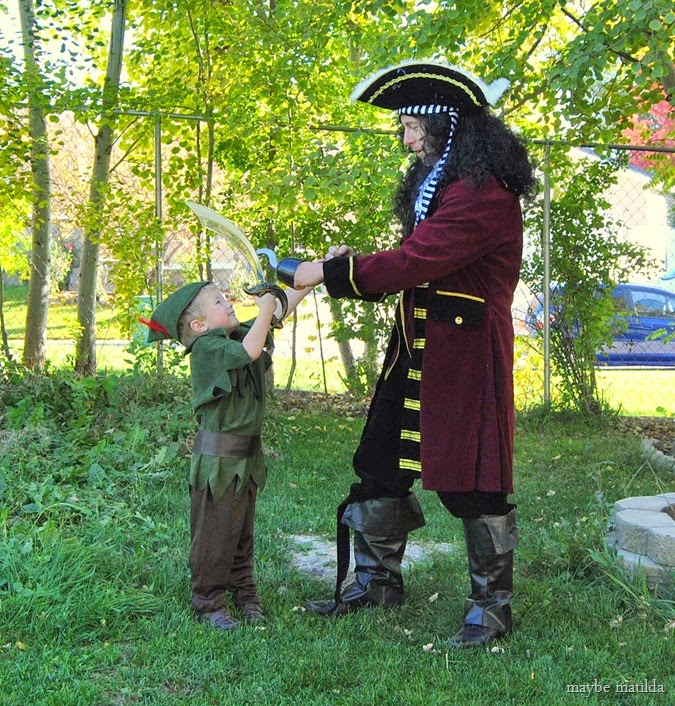 Peter Pan and Captain Hook costumes