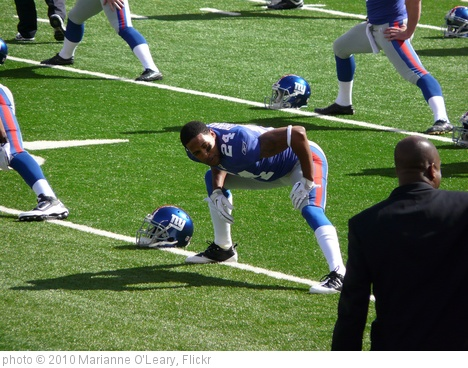 'Terrell Thomas warms up' photo (c) 2010, Marianne O'Leary - license: http://creativecommons.org/licenses/by/2.0/