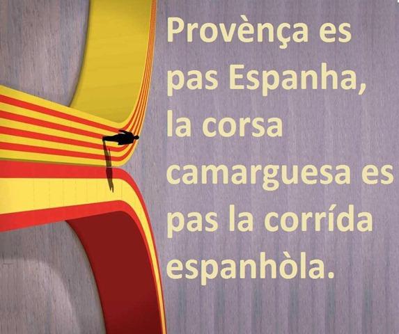 Corrída espanhòla e Provença