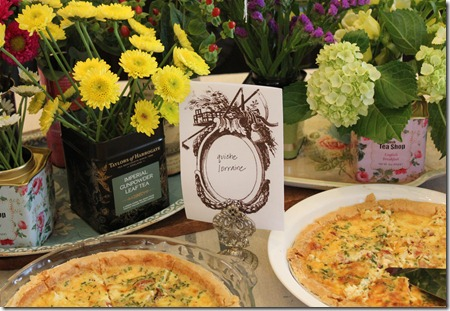 tea party quiche