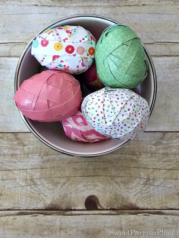 Craft Paper Easter Eggs4