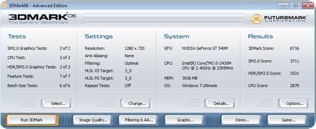 Acer Aspire 4752G Benchmark., 1