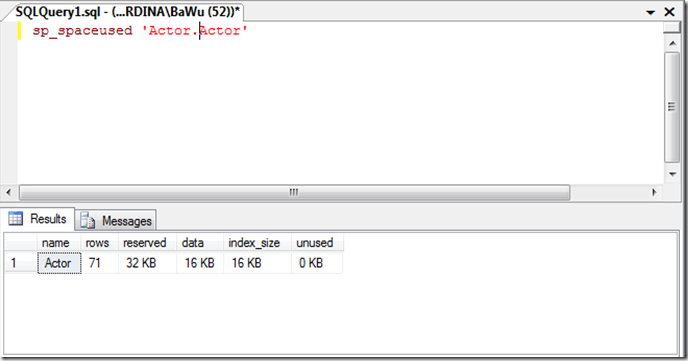 The art of simplicity get the table size in sql server for Get table th width