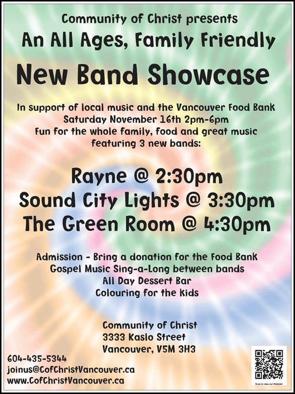 New Band Showcase front