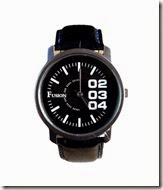 Snapdeal: Buy Club Fusion Black Men's Watch at Rs. 250 only