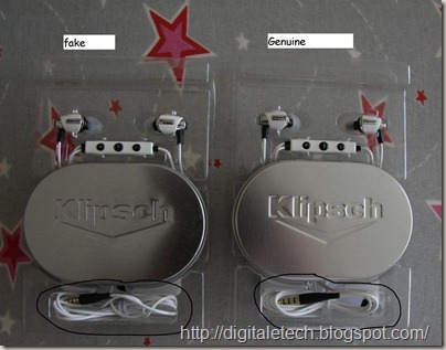 Klipsch Image S4 real vs fake--