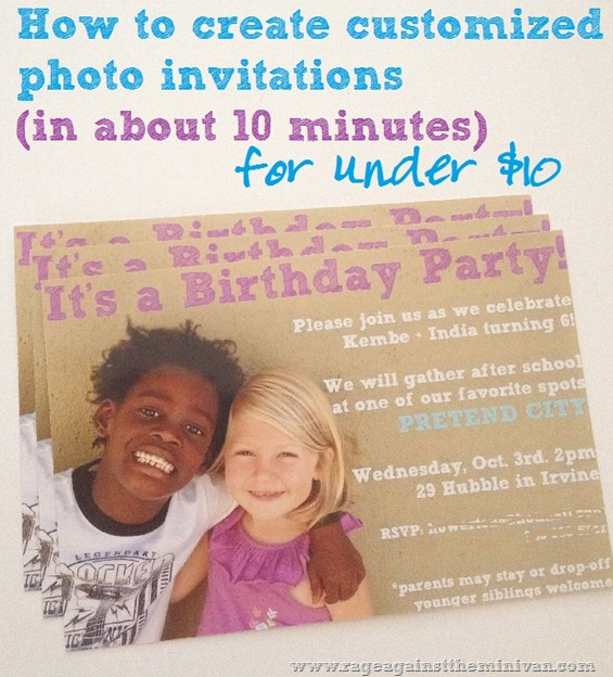 how to create simple photo invitations for under ten bucks