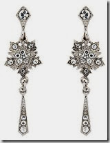 Downton Abbey Collection Starburst Drop Earrings