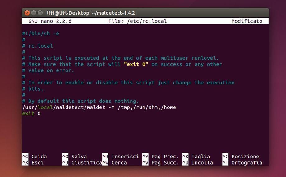 Linux Malware Detect (LMD) - Avvio Automatico