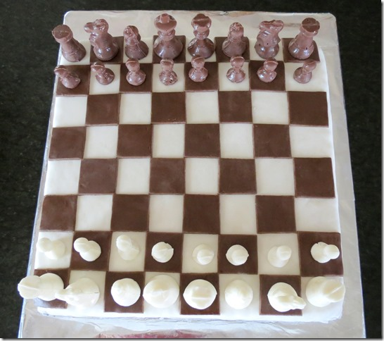 Chess Game Cake (Fondant Covered Rice Krispies Treats) 9-6-13