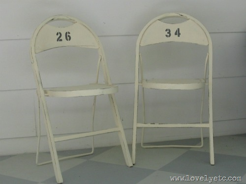 numbered folding chairs