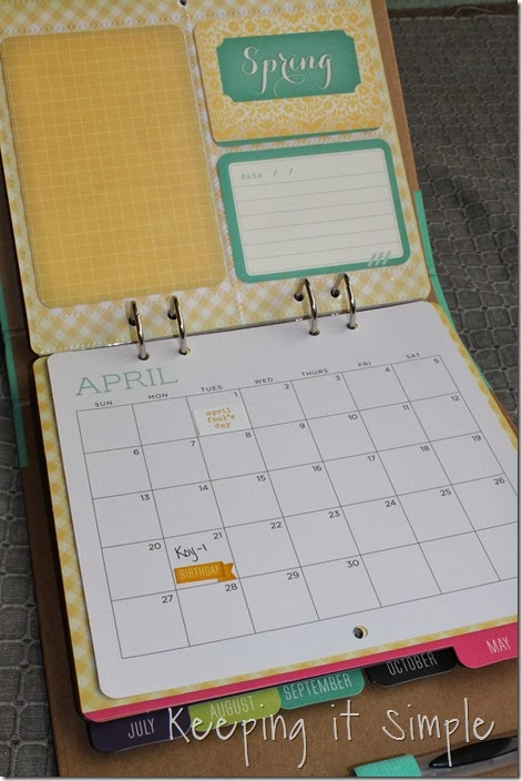 DIY personalized calendar #giftsatmichaels (5)