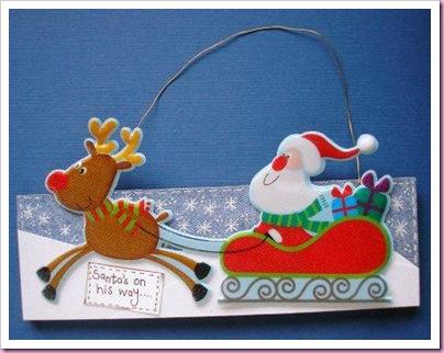 Christmas Santa Door Sign