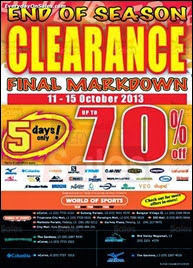 World of Sports End of Season Clearance Sale 2013 Malaysia Deals Offer Shopping EverydayOnSales