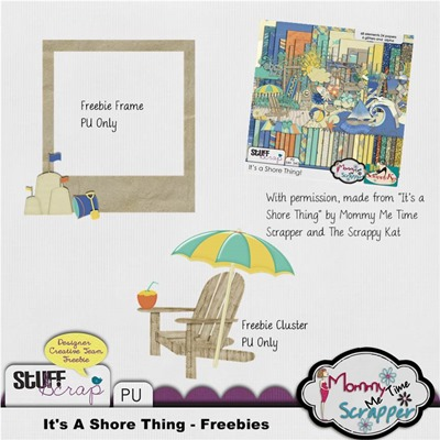 Mommy Me Time Scrapper - It's a Shore Thing - Freebie Preview