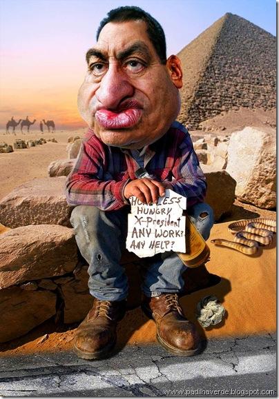 Caricatura Hosni Mubarak