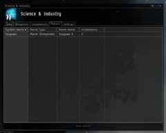 Science & Industry planet list