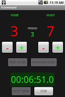 Screenshot of Scoreboard with Timer