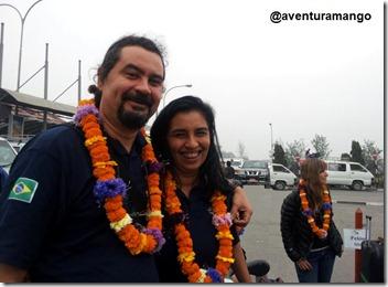 Colares na chegada a Kathmandu