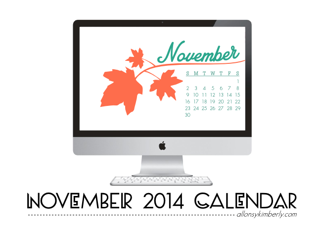 November 2014 Desktop Calendar Wallpaper | allonsykimberly.com