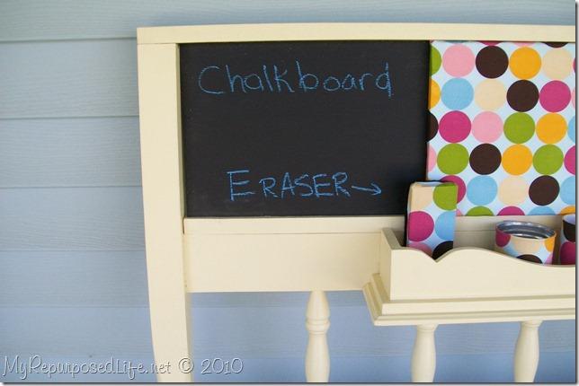Chalkboard memo coatrack