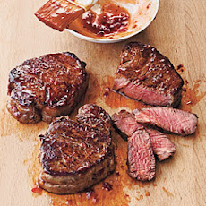 Broiled Tenderloin Steaks with Ginger-Hoisin Glaze